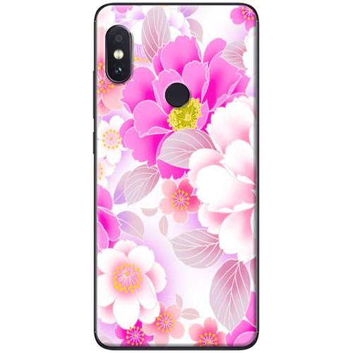 Ốp lưng nhựa dẻo Xiaomi Mi Mix 2S Hoa trắng hồng