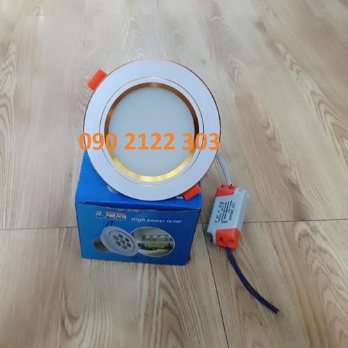 Set 10 đèn LED 7W âm trần 3 chế độ màu viền vang cao cấp