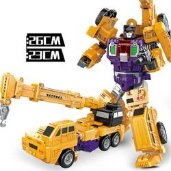 Xe cẩu móc biến hình Robot đồ chơi trẻ em