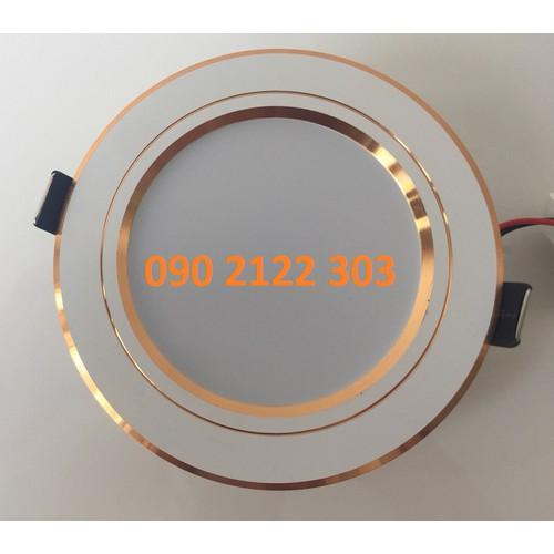 Đèn LED âm trần 7W 3 chế độ màu