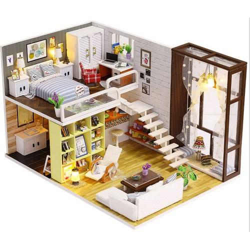 Mô hình nhà gỗ DIY Biệt thự thành phố 2