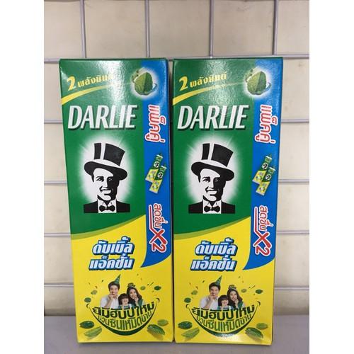 Kem đánh răng ông già Darlie Thái- hộp 2 típ bạc hà