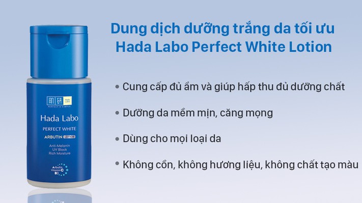 Dung dịch Hada Labo Perfect White Lotion 100ml 7