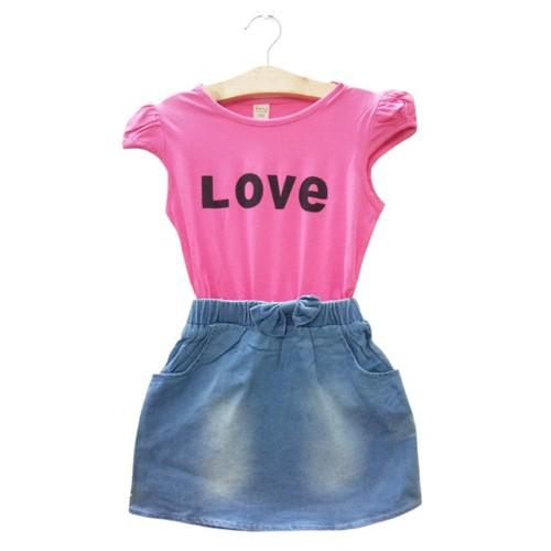 Set đầm jean liền áo chữ LOVE cho bé 13-26kg - 6146363 , 12693443 , 15_12693443 , 245900 , Set-dam-jean-lien-ao-chu-LOVE-cho-be-13-26kg-15_12693443 , sendo.vn , Set đầm jean liền áo chữ LOVE cho bé 13-26kg