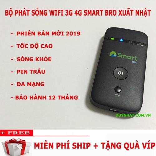 Cục Phát Wifi Bằng Sim 3G 4G Smart Bro, Không Dây, Tốc Độ Cao