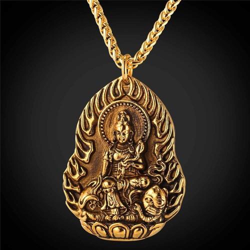 Dây Chuyền Nam Hình Phật Phổ Hiền Cưỡi Voi