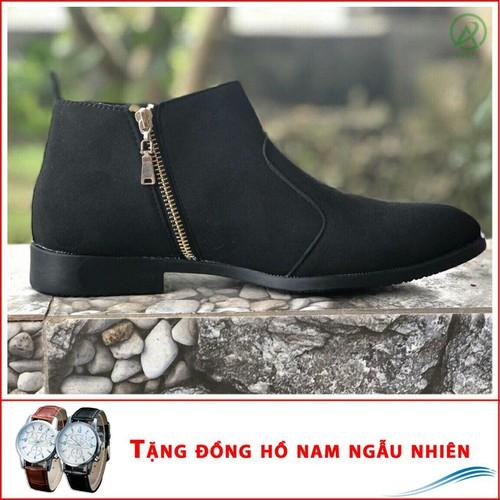 Giày nam - shop giày aroti | giày chealsea boot nam kéo khóa đen buck  - mẫu thiết kế trẻ trung- phong cách- hợp thời trang, dễ phối với nhiều loại trang phục, luôn đảm bảo về chất lượng và giá tốt-sh - 18965692 , 12724641 , 15_12724641 , 200000 , Giay-nam-shop-giay-aroti-giay-chealsea-boot-nam-keo-khoa-den-buck-mau-thiet-ke-tre-trung-phong-cach-hop-thoi-trang-de-phoi-voi-nhieu-loai-trang-phuc-luon-dam-bao-ve-chat-luong-va-gia-tot-ship-cod-toan-quoc