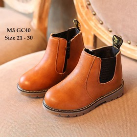 Giày bốt cho bé trai, giày cổ cao bé trai 1 - 5 tuổi GC40 - GC40NAU