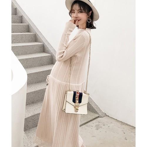 Váy len bầu Hàn Quốc mềm mịn co giãn