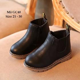 Giày bốt bé trai, giày bốt bé trai cổ cao, giày bốt bé trai da GC40 - GC40DEN