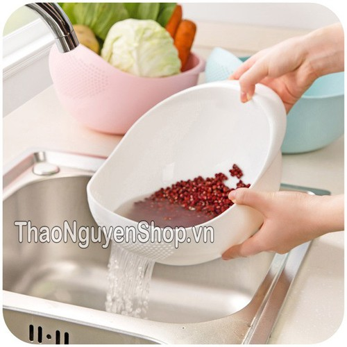 Rổ nhựa rửa rau vo gạo