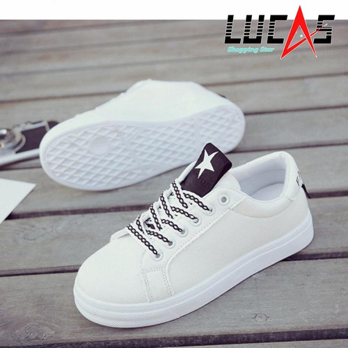 Giày Sneaker Thời Trang Nữ Top New – SN6686WB Trắng Phối Đen
