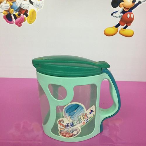 Lọ nhựa đựng nước mắm xanh lá