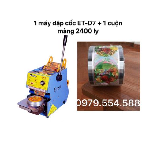 Máy ép miệng ly - máy dập cốc ET-D7 kèm cuộn màng 2400ly - 6179585 , 12734092 , 15_12734092 , 2000000 , May-ep-mieng-ly-may-dap-coc-ET-D7-kem-cuon-mang-2400ly-15_12734092 , sendo.vn , Máy ép miệng ly - máy dập cốc ET-D7 kèm cuộn màng 2400ly