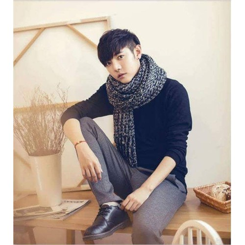 khăn len đan tay