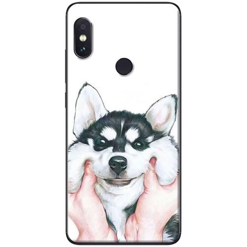 Ốp lưng nhựa dẻo Xiaomi Mi Mix 2S Nựng Husky