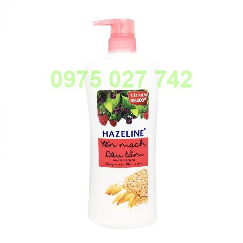 Sữa tắm Hazeline Yến mạch dâu tằm900g