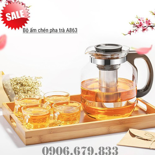 Bình pha trà thủy tinh