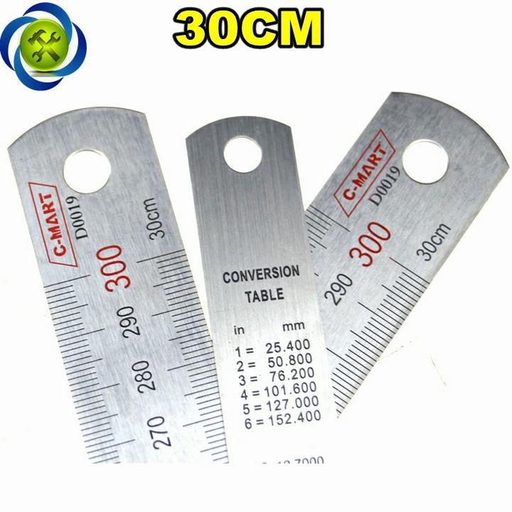 Thước lá C-Mart D0019-300 300mm 1