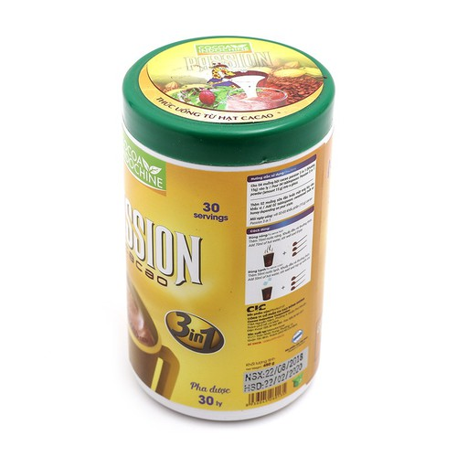 Bột Cacao Sữa Passion 3 in 1 Hủ 450g