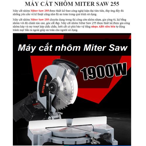 Máy cắt nhôm đa góc MiterSaw 1900W-Máy cắt nhôm - 6200180 , 12757955 , 15_12757955 , 1870000 , May-cat-nhom-da-goc-MiterSaw-1900W-May-cat-nhom-15_12757955 , sendo.vn , Máy cắt nhôm đa góc MiterSaw 1900W-Máy cắt nhôm