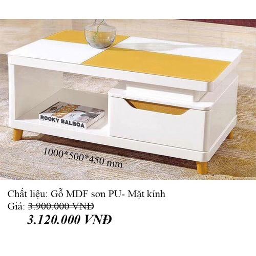 Bàn sofa mặt kính cường lực nhập khẩu HFC-BSF1000-10 cao cấp