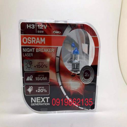 Osram|Bóng Đèn  Ô Tô|Đèn Pha Ô Tô| Osram H3 12V 55W|Siêu Sáng