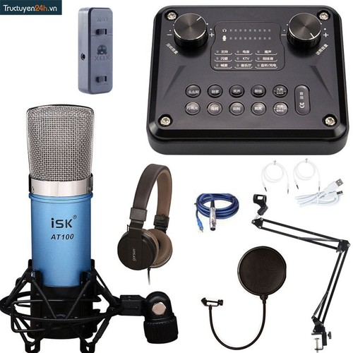 Combo Thu Âm Số 13: Sound card H2 T8 Pro+ Micro AT100+ Full Phụ Kiện. - 6191926 , 12749330 , 15_12749330 , 2260000 , Combo-Thu-Am-So-13-Sound-card-H2-T8-Pro-Micro-AT100-Full-Phu-Kien.-15_12749330 , sendo.vn , Combo Thu Âm Số 13: Sound card H2 T8 Pro+ Micro AT100+ Full Phụ Kiện.