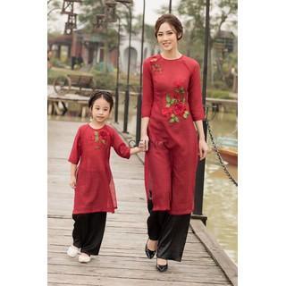 [ hổ trợ phí ship - dc kiểm hàng] áo dài cách tân - áo dài mẹ và bé - đầm mẹ và bé - 3151263 thumbnail