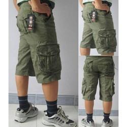 Quần shorts kaki nam túi hộp vãi dầy dận chuẩn phong cách nam size 28 đến 36