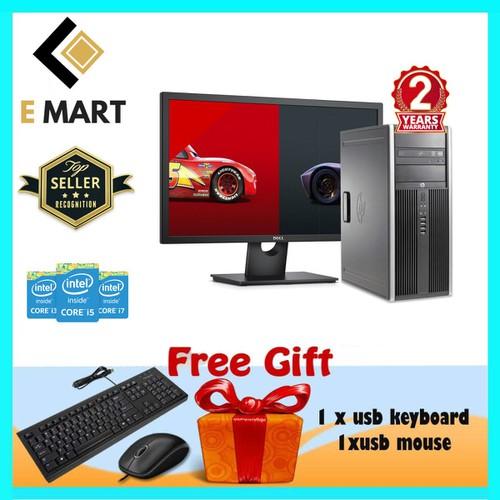 Máy Tính HP 6300MT + LCD 27inch G2030, Ram8GB, SSD120GBGB, HDD1TB