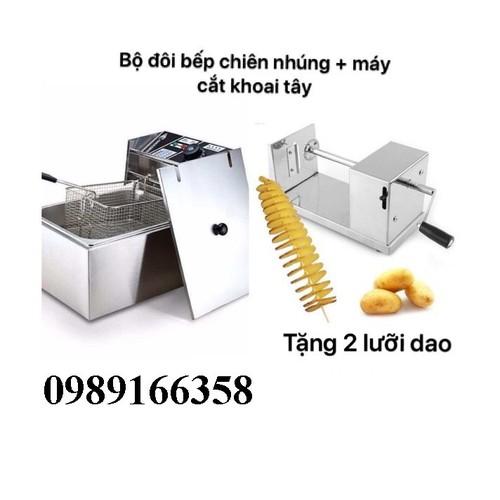 Bếp chiên nhúng điện, máy cắt khoai tây lốc xoáy - 4523230 , 12737644 , 15_12737644 , 1000000 , Bep-chien-nhung-dien-may-cat-khoai-tay-loc-xoay-15_12737644 , sendo.vn , Bếp chiên nhúng điện, máy cắt khoai tây lốc xoáy