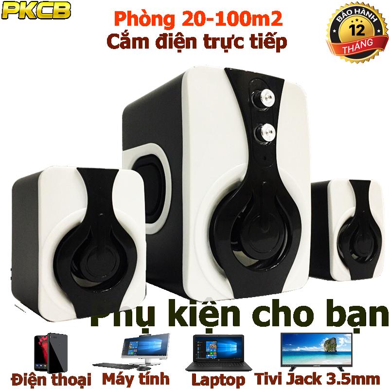 Loa Nghe Nhạc điện thoại, tivi,máy tính speakers PKCB 2060 Bass 2018 14