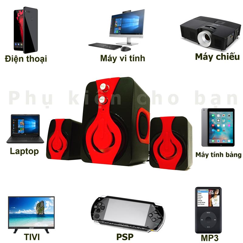 Loa Nghe Nhạc điện thoại, tivi,máy tính speakers PKCB 2060 Bass 2018 11