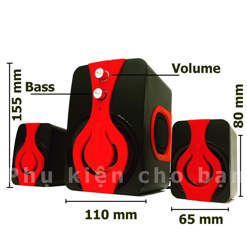 Loa Nghe Nhạc điện thoại, tivi,máy tính speakers PKCB 2060 Bass 2018 10