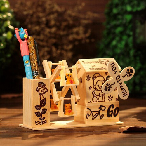 Hộp đựng bút viết bằng gỗ có nhạc