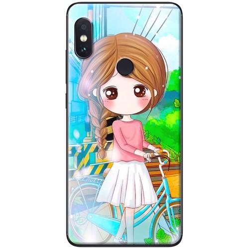 Ốp lưng nhựa dẻo Xiaomi Mi 8 Dắt xe
