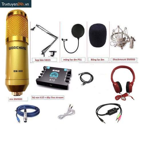Combo thu âm số 15: Mic WoaiChang BM900  và XOX k10.