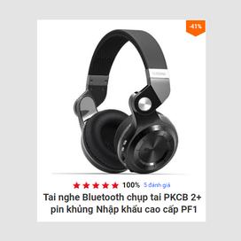 Tai nghe Bluetooth chụp tai PKCB 2+ pin khủng Nhập khẩu cao cấp PF1 7