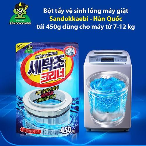 Bột tẩy vệ sinh lồng máy giặt Sandokkaebi 450g - Hàn Quốc - 6184366 , 12740697 , 15_12740697 , 35000 , Bot-tay-ve-sinh-long-may-giat-Sandokkaebi-450g-Han-Quoc-15_12740697 , sendo.vn , Bột tẩy vệ sinh lồng máy giặt Sandokkaebi 450g - Hàn Quốc