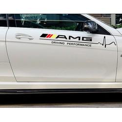 Tem dán cửa xe ô tô phong cách AMG  02