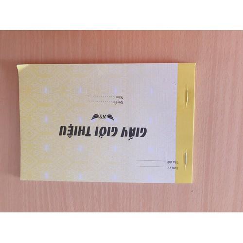 2 cuốn giấy giới thiệu 1 liên 13x19cm 100 tờ
