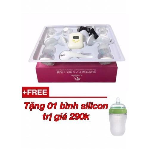Máy hút sữa điện đôi  kichilachi nhật - tặng 1 bình silicon