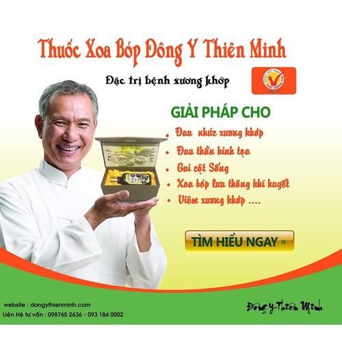 Đông y Thiên Minh - thuốc xoa bóp đau nhức xương khớp