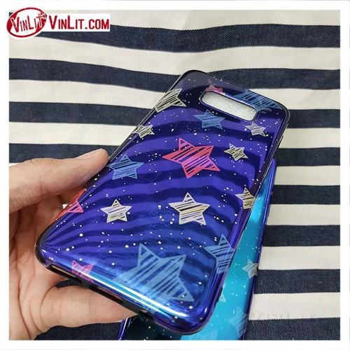 Ốp lưng Samsung Note 8 gương bóng xà cừ lấp lánh hình ngôi sao