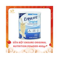 Sữa ensure bột xách tay |sua ensure xach tay 400g xuất xứ Mỹ date 04. 2021 [Mẫu Mới]