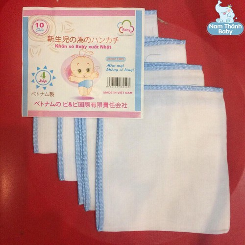 Set 10 chiếc khăn xô baby xuất Nhật - Loại 2 lớp màu hồng - 6210981 , 12772409 , 15_12772409 , 35000 , Set-10-chiec-khan-xo-baby-xuat-Nhat-Loai-2-lop-mau-hong-15_12772409 , sendo.vn , Set 10 chiếc khăn xô baby xuất Nhật - Loại 2 lớp màu hồng