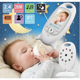 Máy báo khóc Baby Monitor cảm biến nhiệt độ chăm sóc bé yêu - máy báo khóc