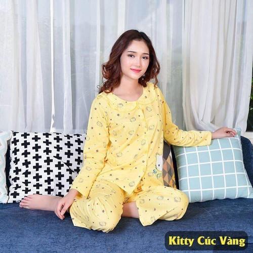 Bộ đồ bầu và sau sinh cài cúc KTYV-  chất cotton