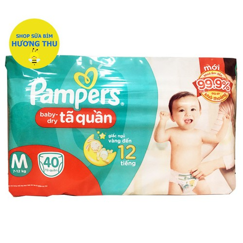 Tã Quần Pampers Size M 40 miếng dành cho bé từ 7 - 12kg